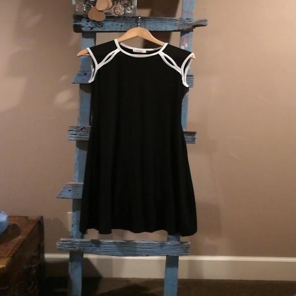 Calvin Klein Dresses Black Cap Sleeve Dress 4 Poshmark